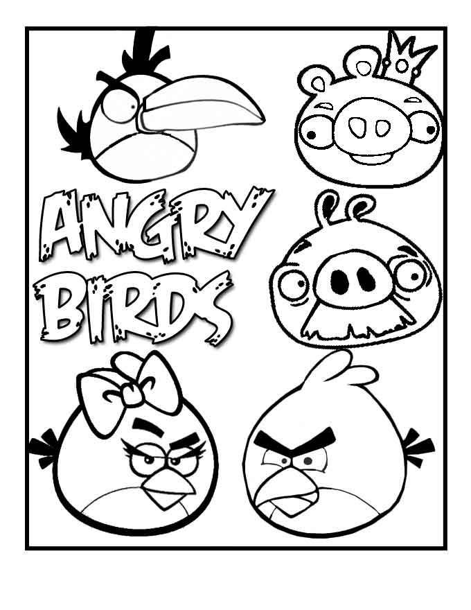Раскраска игра злые птички