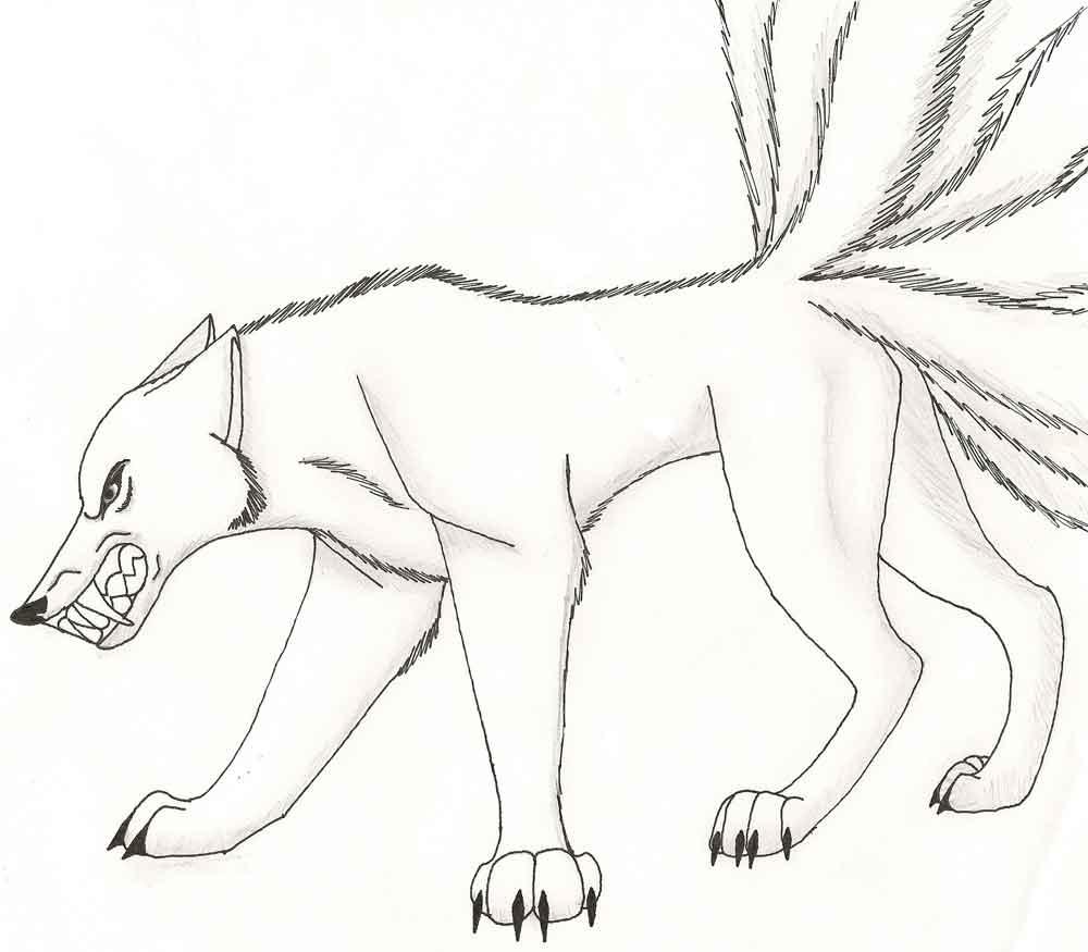 Картинки волки раскраска