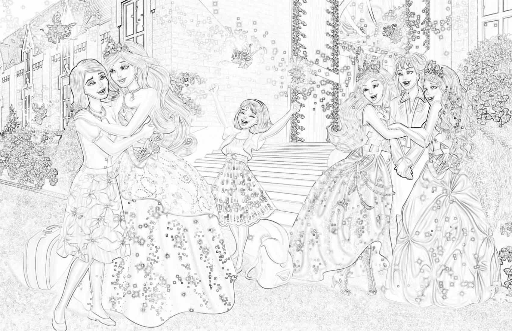 раскраска принцесса барби детские раскраски распечатать
