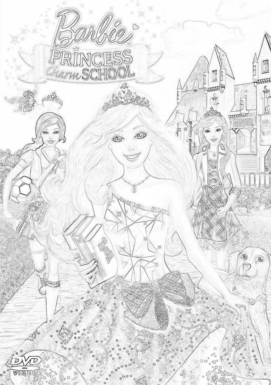 Раскраски Барби академия принцесс | Детские раскраски ...