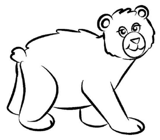 раскраска медведь детские раскраски распечатать скачать