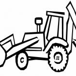 раскраска машина трактор