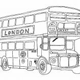 раскраска автобус двухэтажный