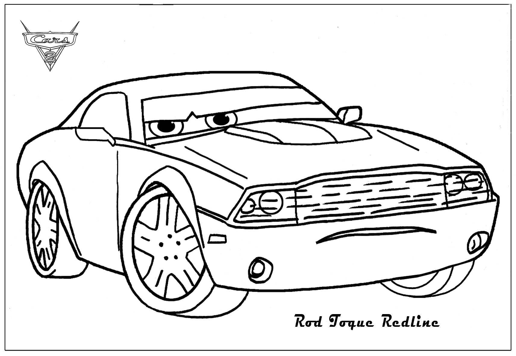 cars character coloring pages - photo#46