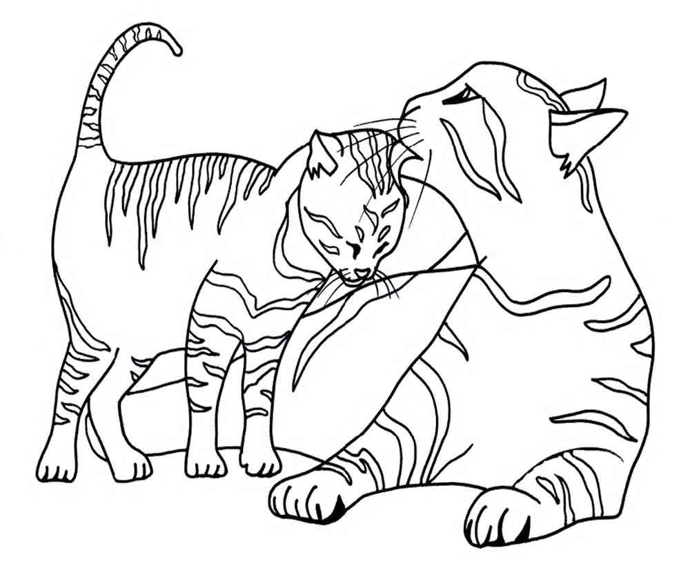Раскраски кошки и котята | Детские раскраски, распечатать ...