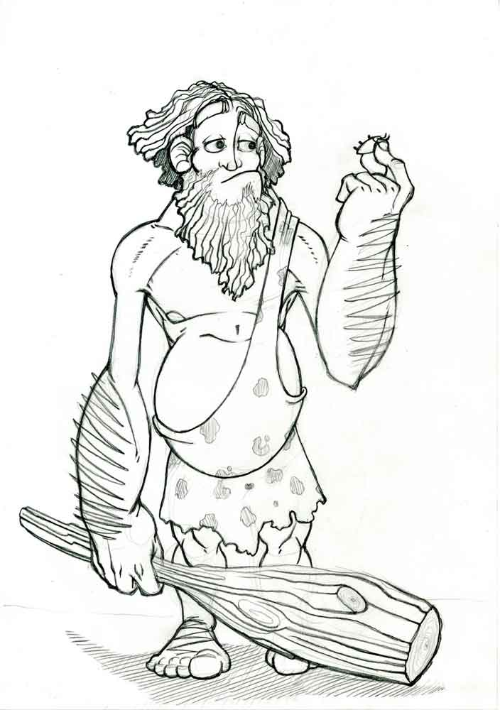 Древний человек картинки раскраски
