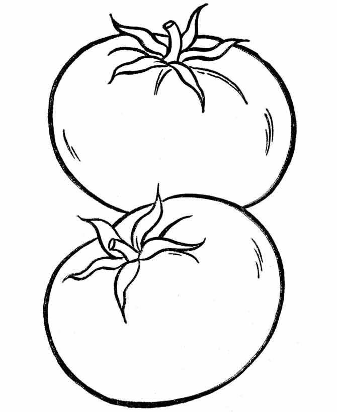 Раскраска овощи бесплатно