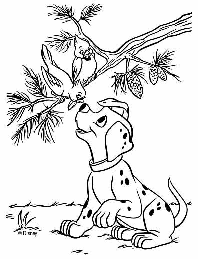 Раскраски о животных дисней