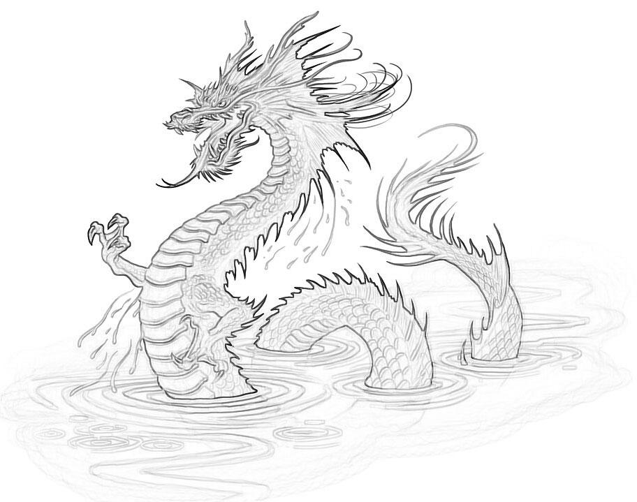 Раскраска дракон - 2