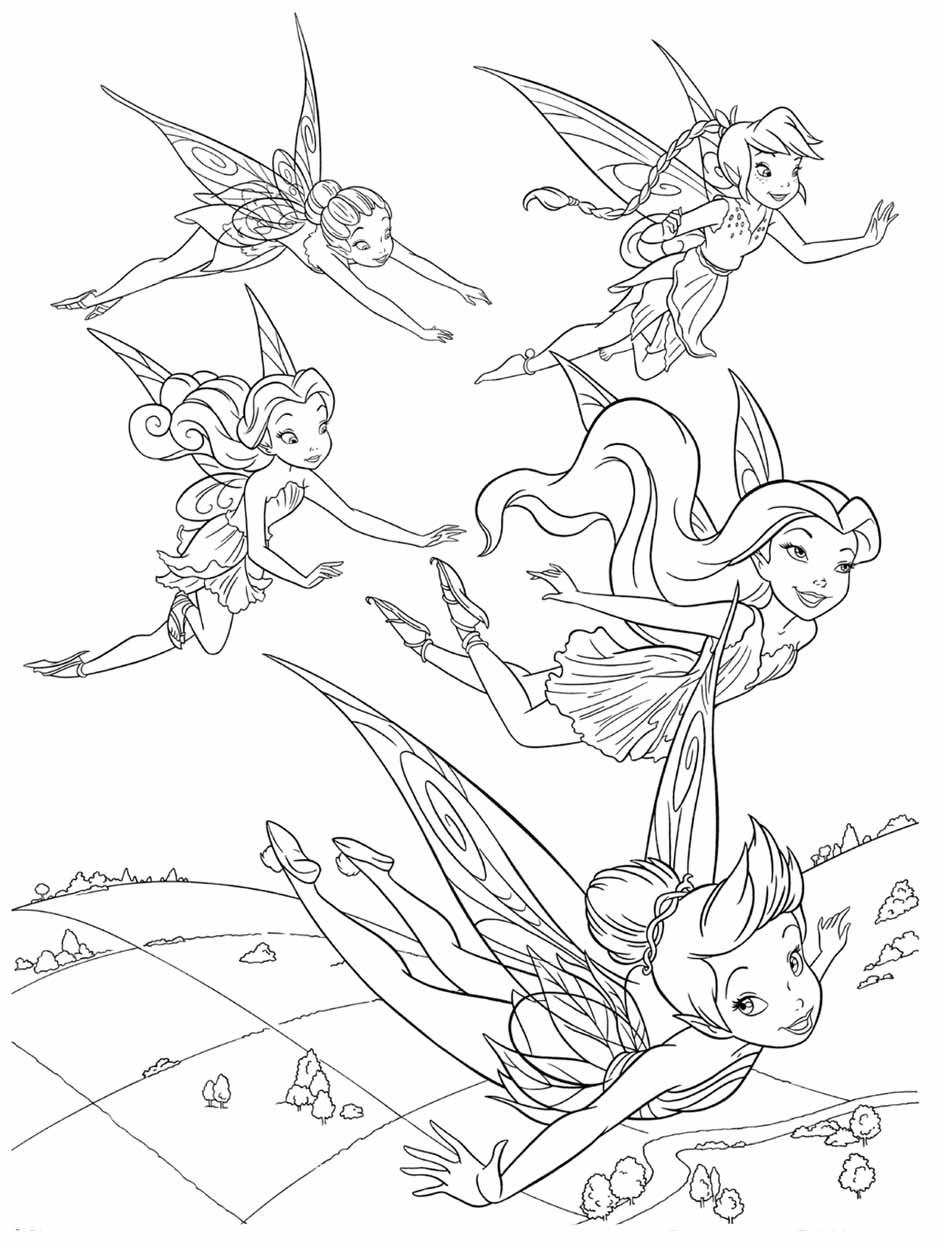 Раскраска фея динь