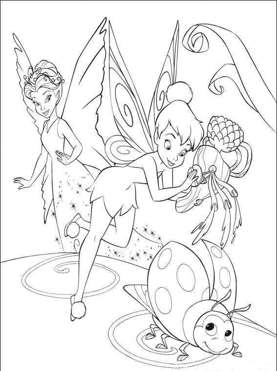 Раскраски для девочек феечки