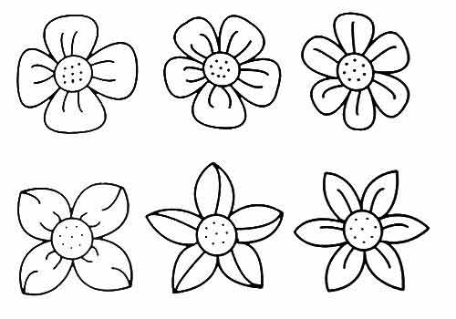 how to draw many flowers