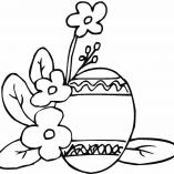 цветы и пасхальное яйцо