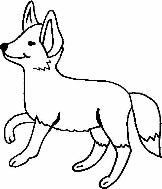 Картинки лисы для детей раскраска