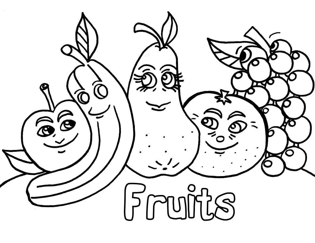Картинки раскраски фрукты