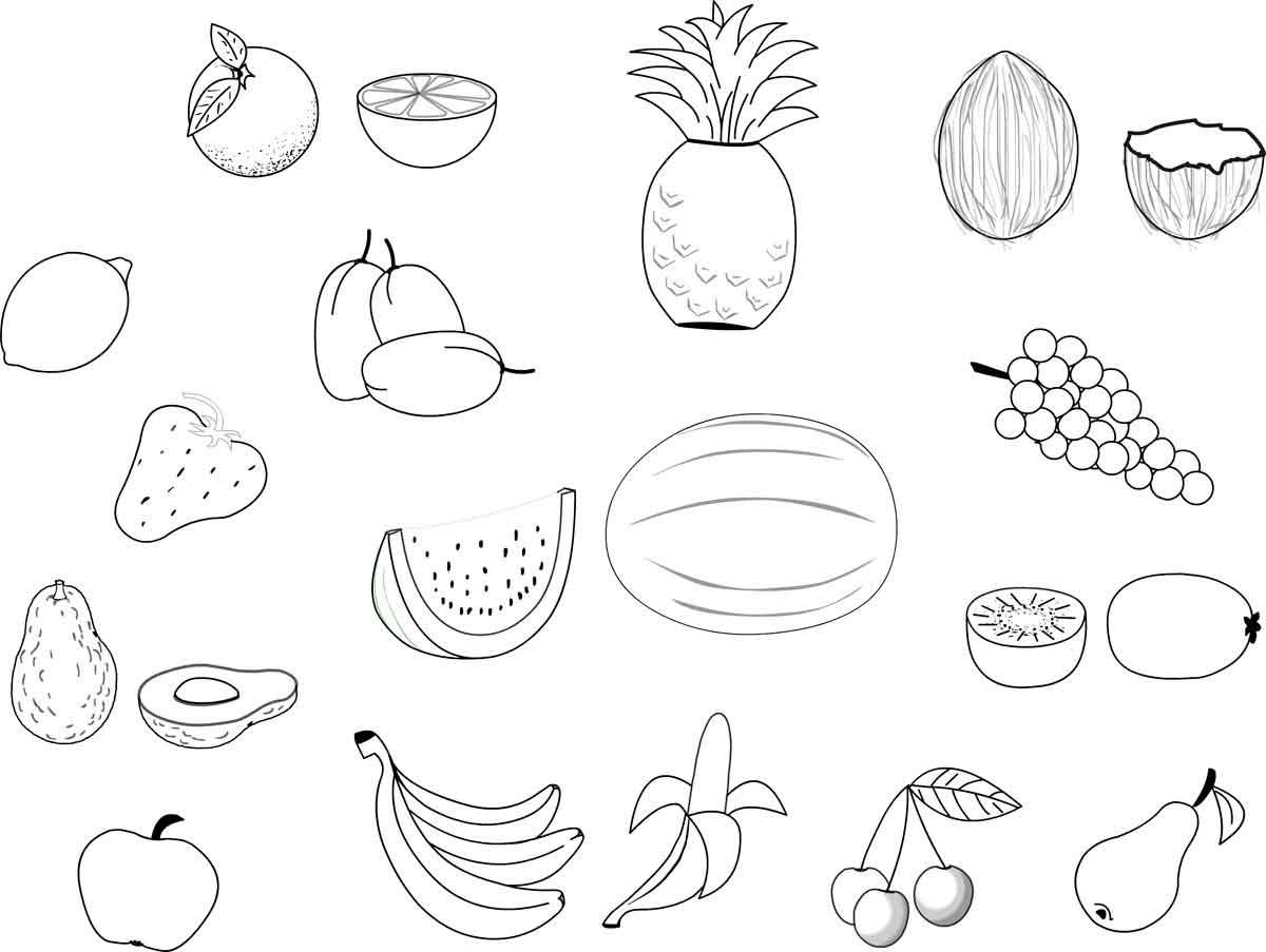Раскраски фрукты - 9