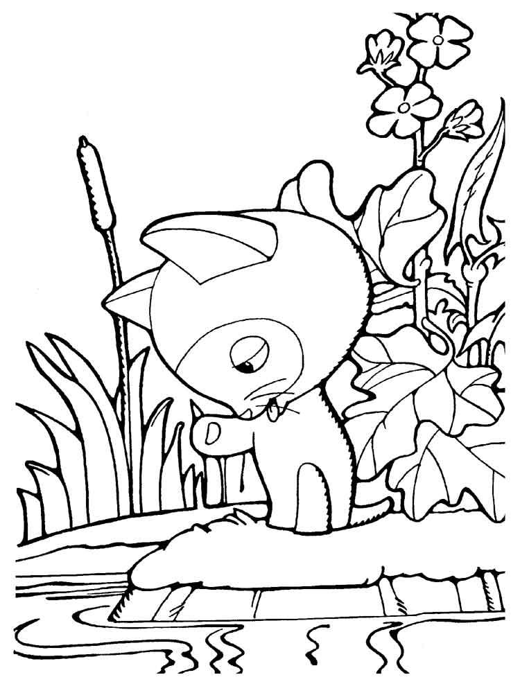 Раскраска котенок Гав | Детские раскраски, распечатать ...