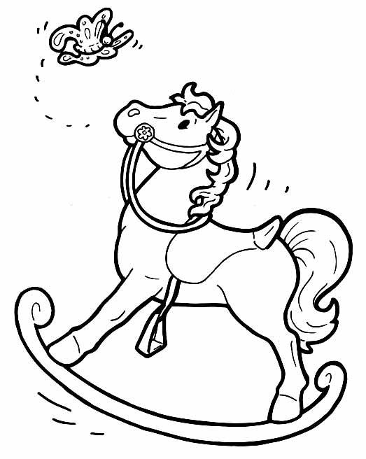Лошадки маленькие раскраски