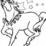 раскраска волшебная лошадь
