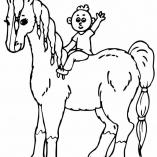 раскраска человек на лошади