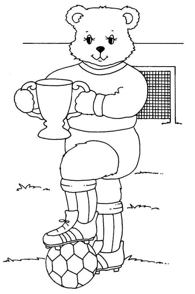 Картинки раскраски о спорте для детей