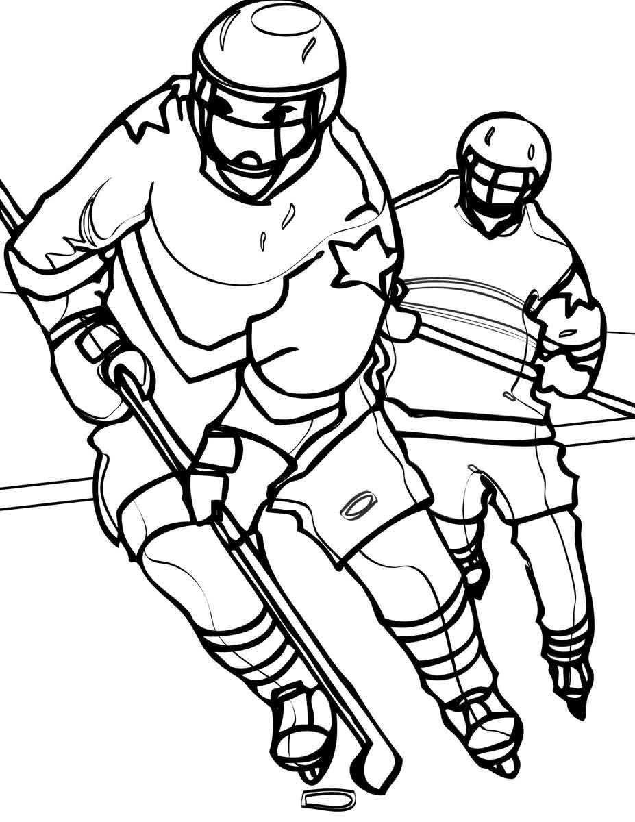 Раскраски о спорте для школьников