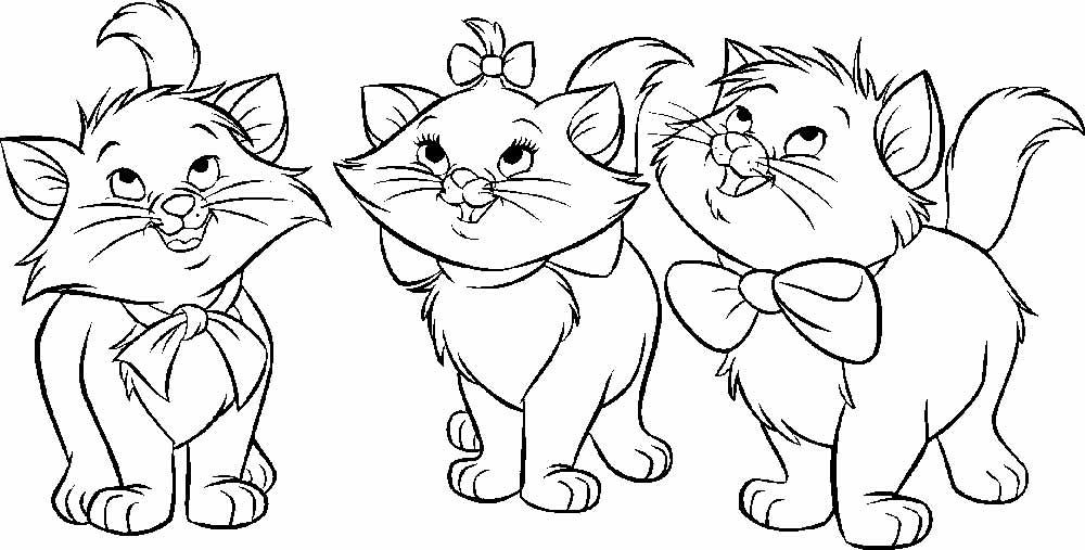 Раскраски для девочек Котята | Детские раскраски ...