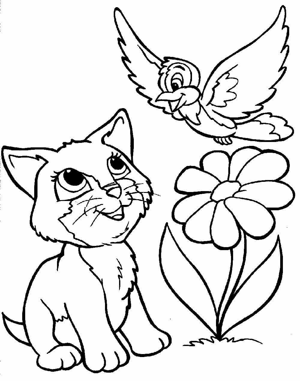 Раскраски котята распечатать | Детские раскраски ...