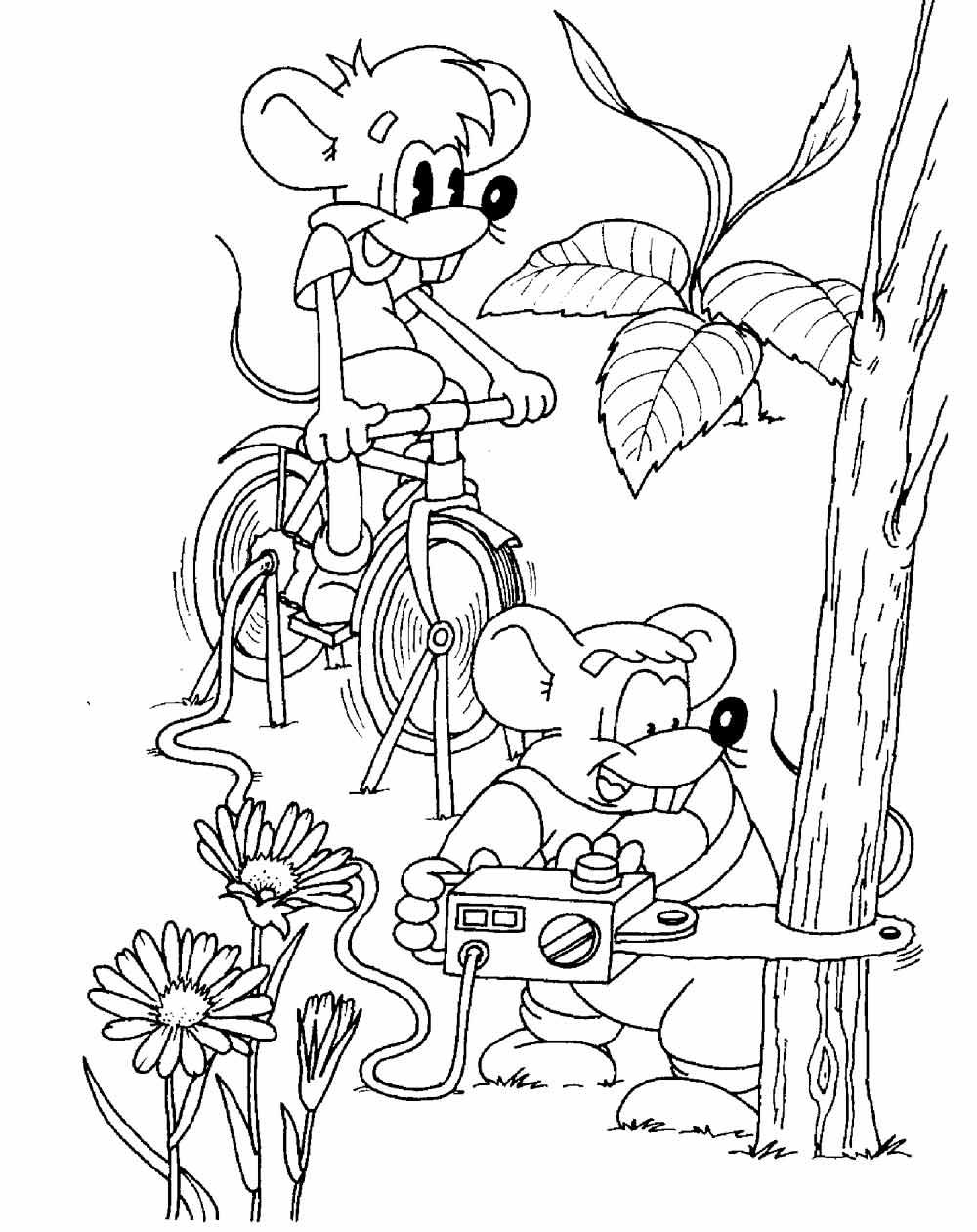 Раскраска Кот Леопольд | Детские раскраски, распечатать ...