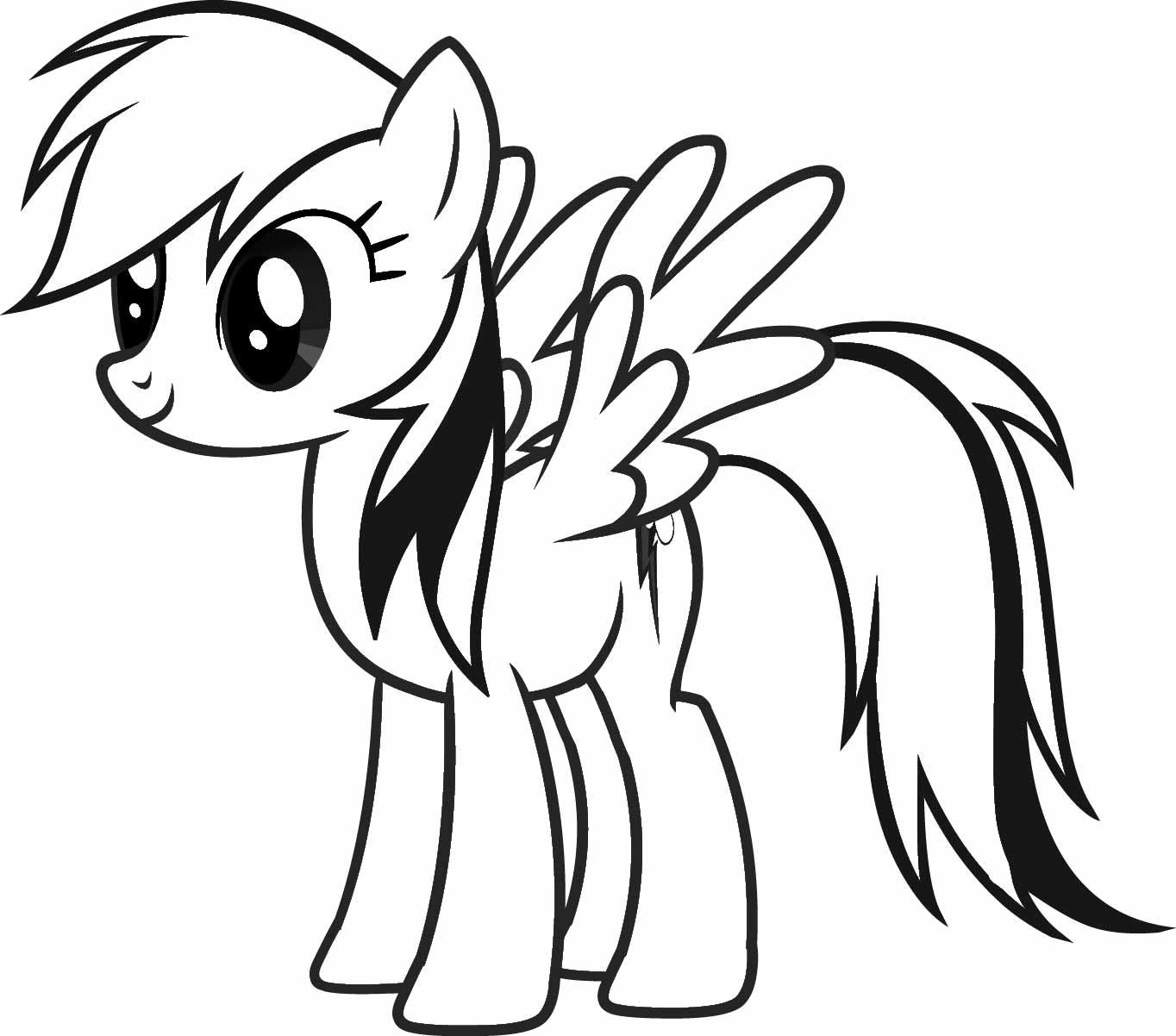 Раскраска май литл пони радужные пони