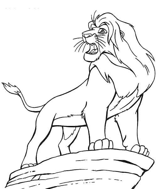 Раскраски король лев 2
