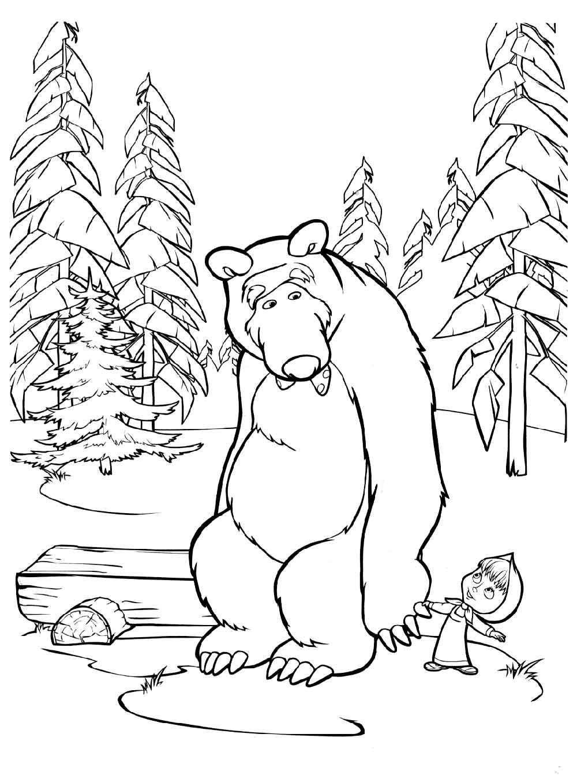 Детские раскраски Маша и Медведь | Детские раскраски ...