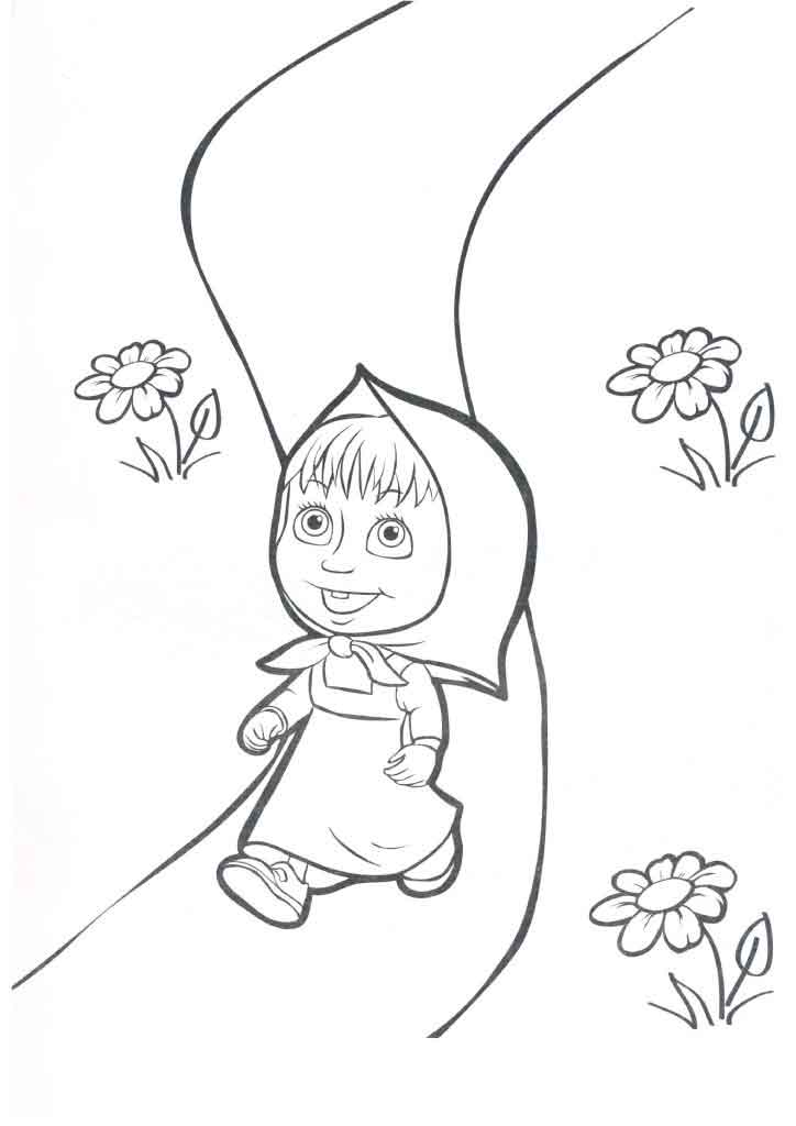 картинки раскраски маша и медведь детские раскраски