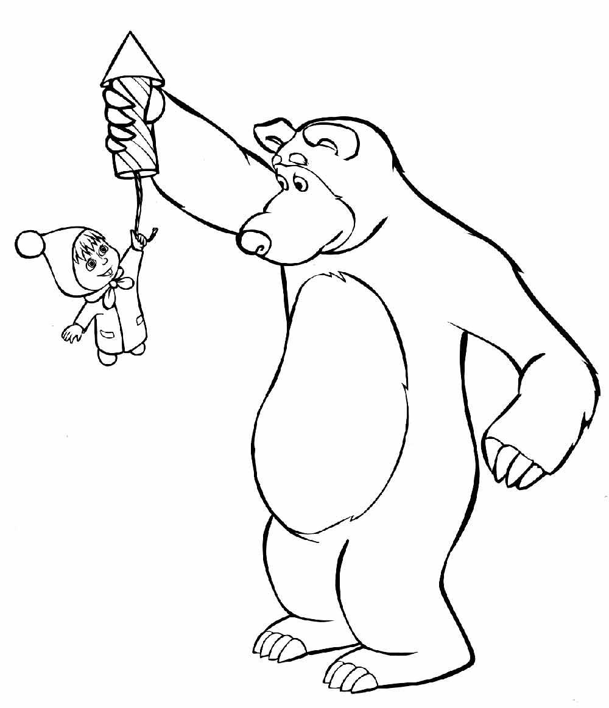 Раскраски маша и медведь бесплатно
