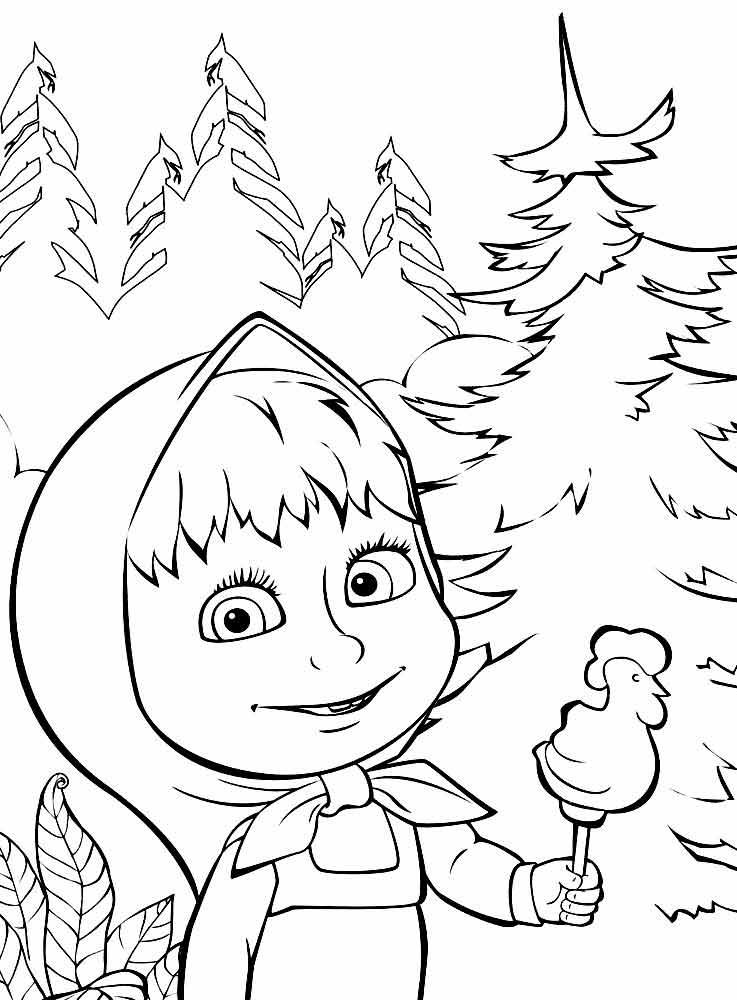 Раскраски Маша и Медведь бесплатно | Детские раскраски ...