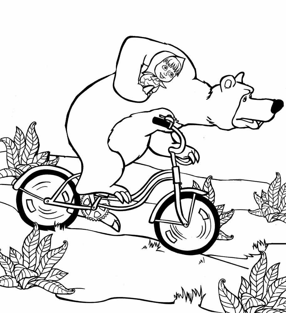 раскраски маша и медведь бесплатно детские раскраски
