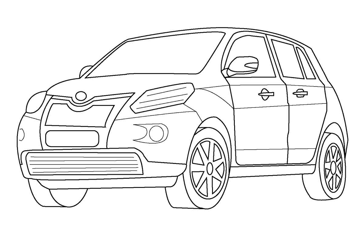 Free Coloring Pages Of Toyota Highlander