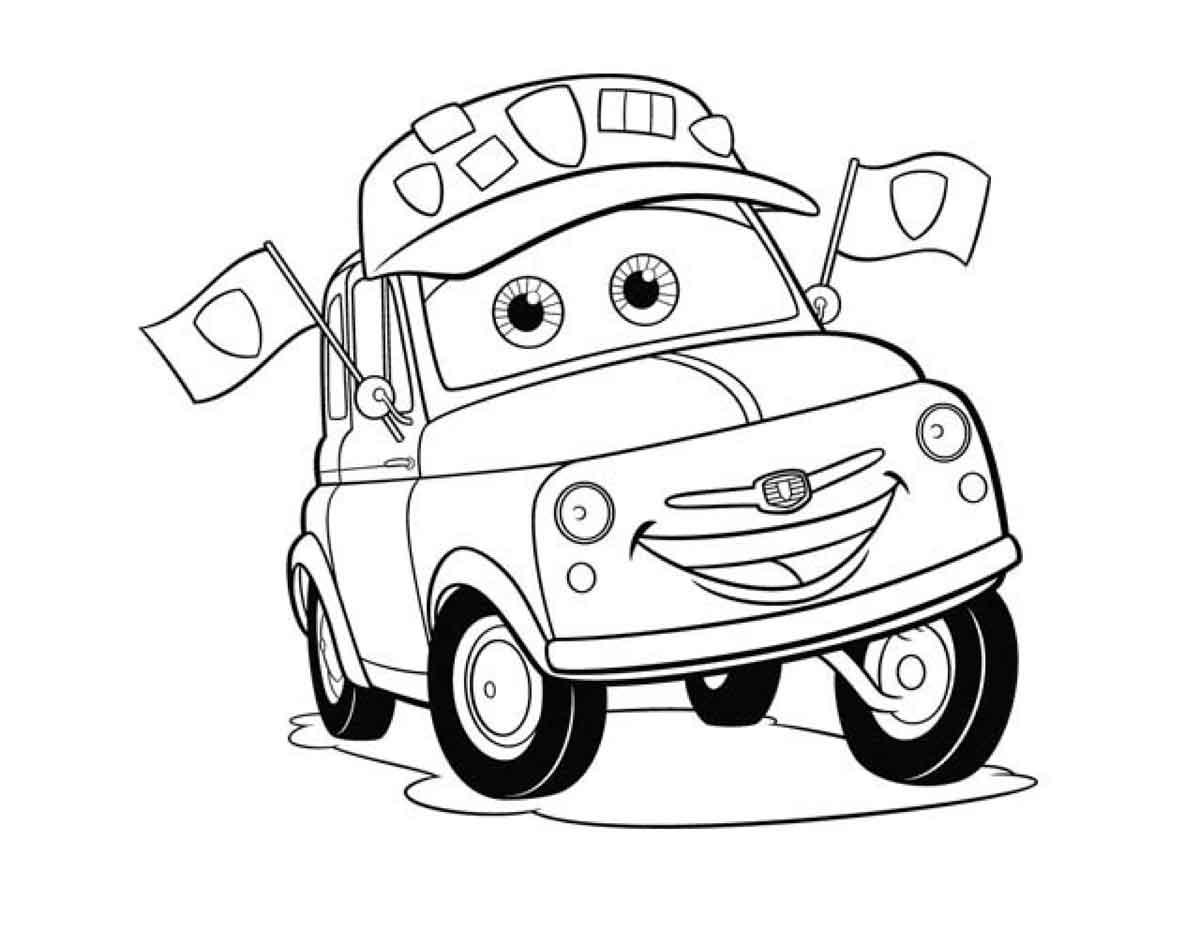 cars character coloring pages - photo#20