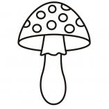 раскраска гриб мухомор