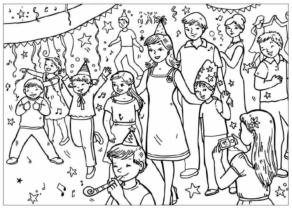 Раскраска праздники