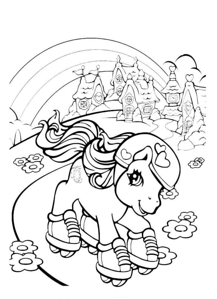 97Раскраска для девочек онлайн милая пони