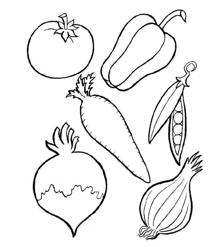 картинки для раскрашивания овощи