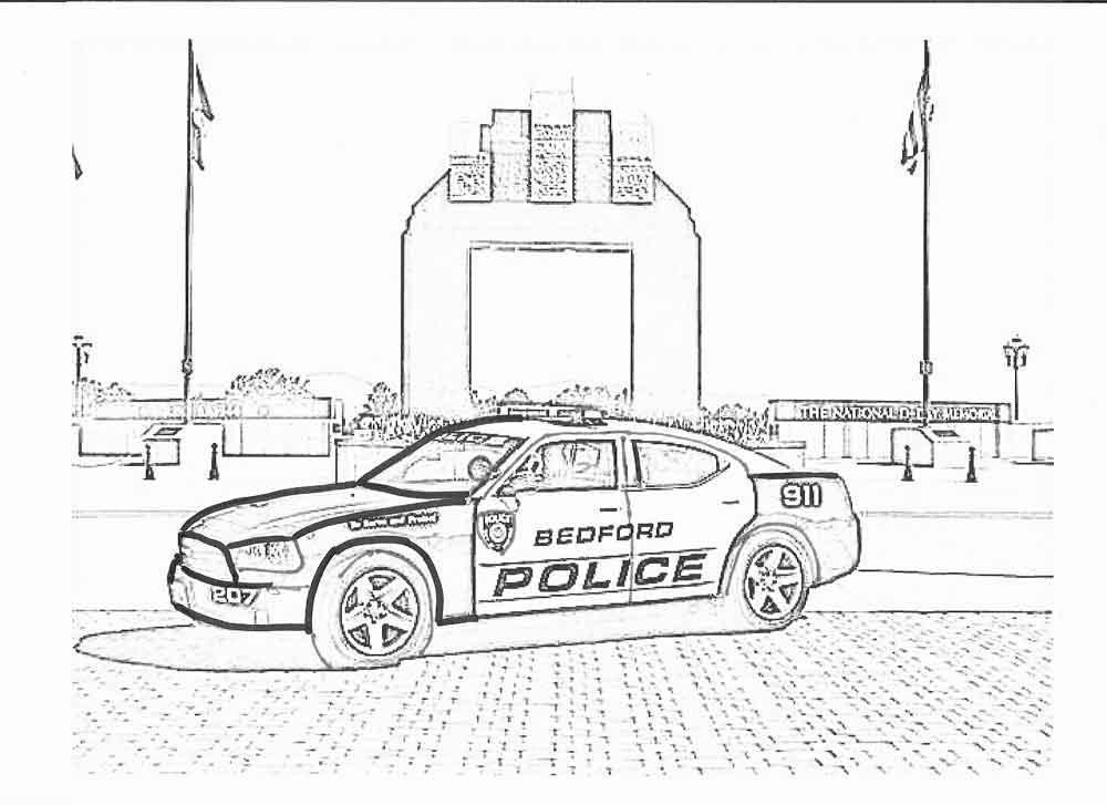 Раскраска про полицейские машинки