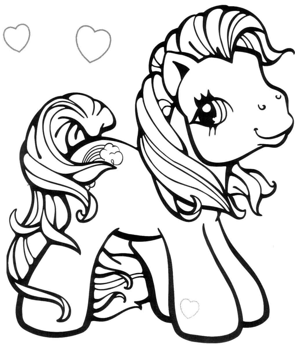 Раскраски пони бесплатно - 4