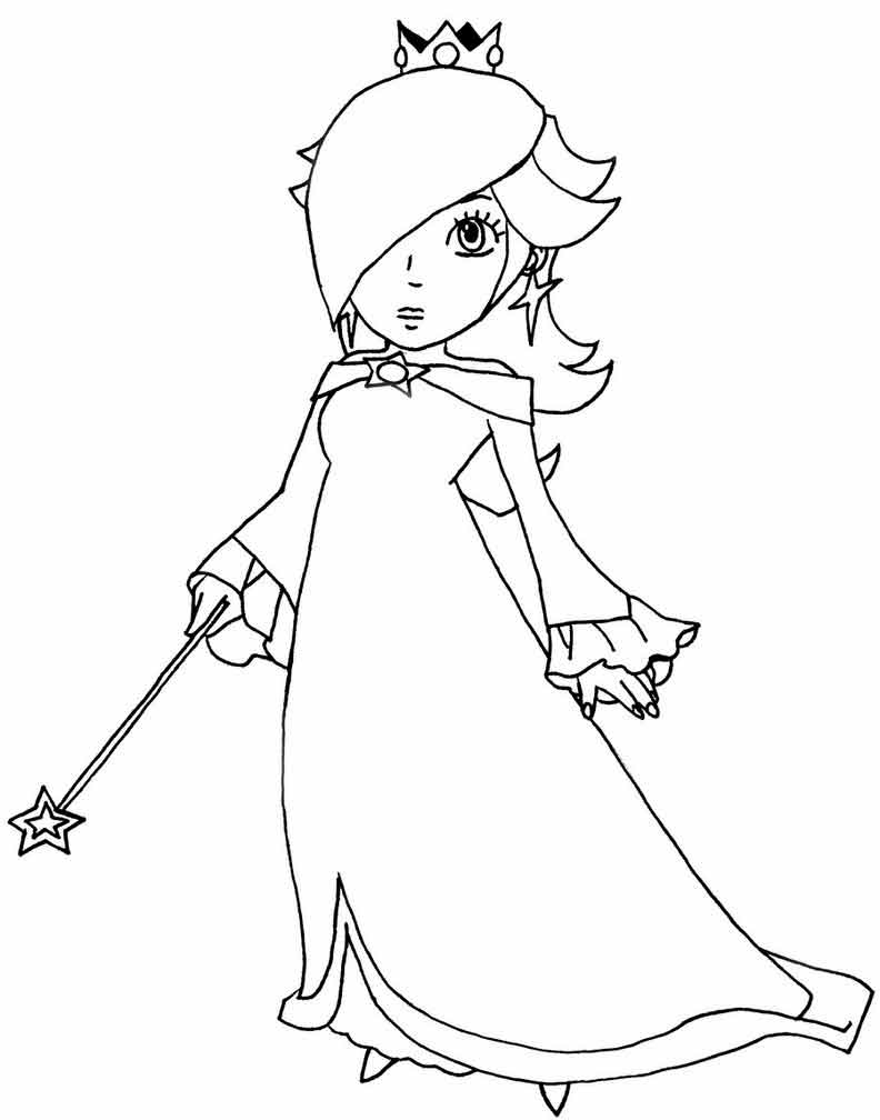 Rosalina Mario Coloring Pages. princess peach daisy rosalina coloring pages Baby Princess Peach Coloring Pages