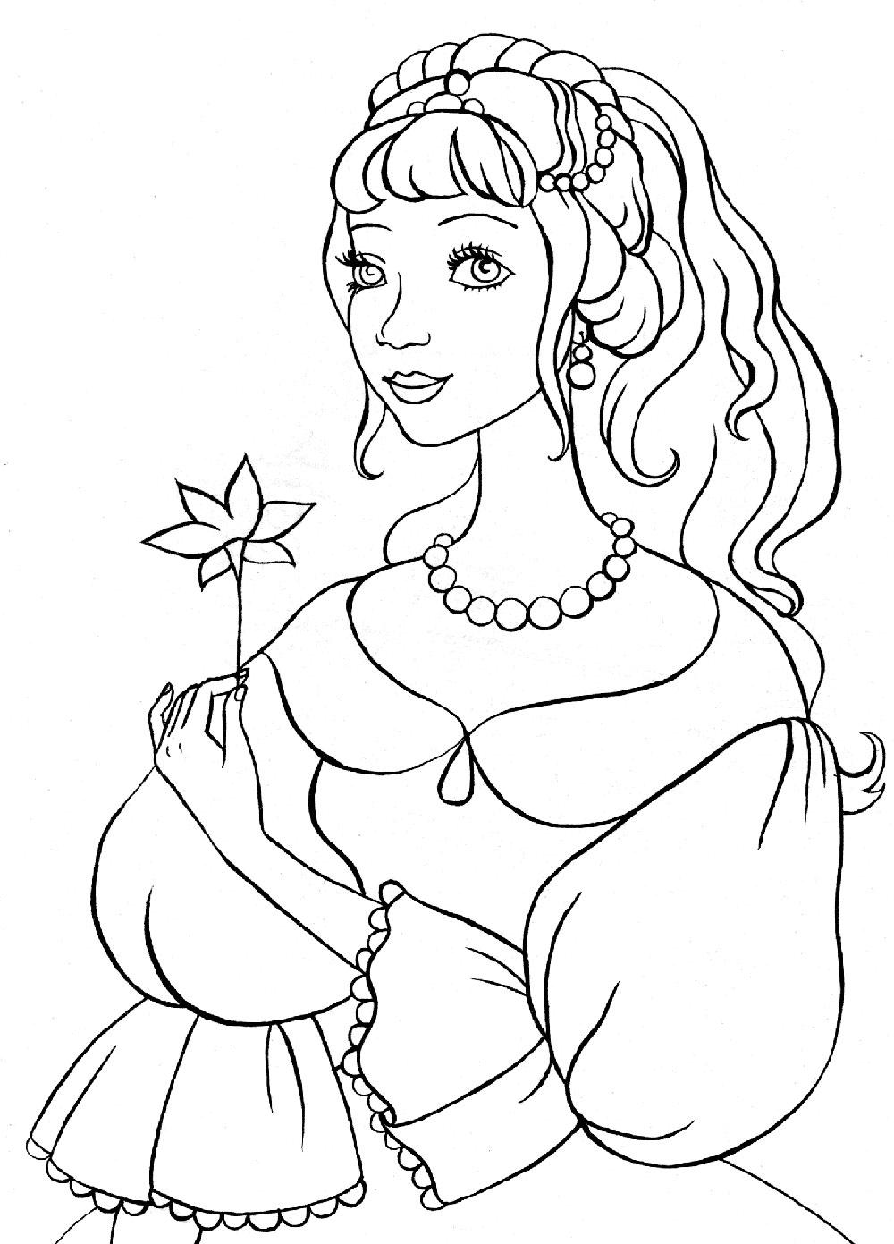 Раскраски принцессы распечатать | Детские раскраски ...