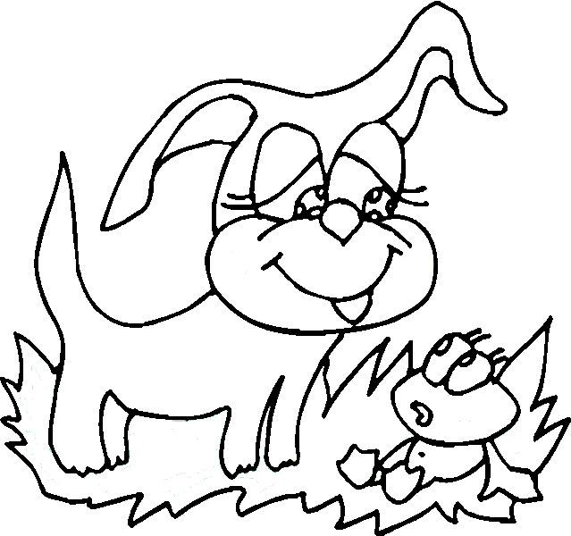 Раскраски котята и щенята распечатать