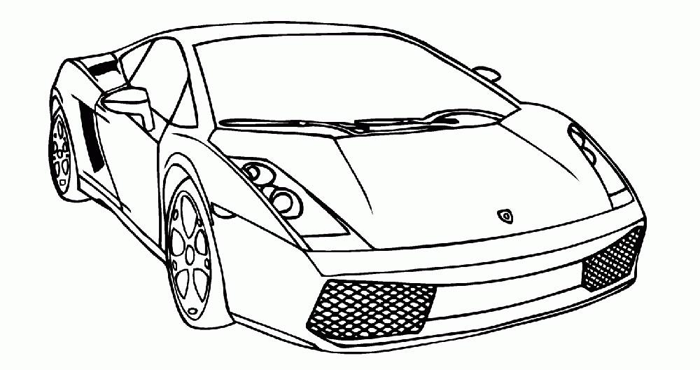 Раскраски машин гоночных