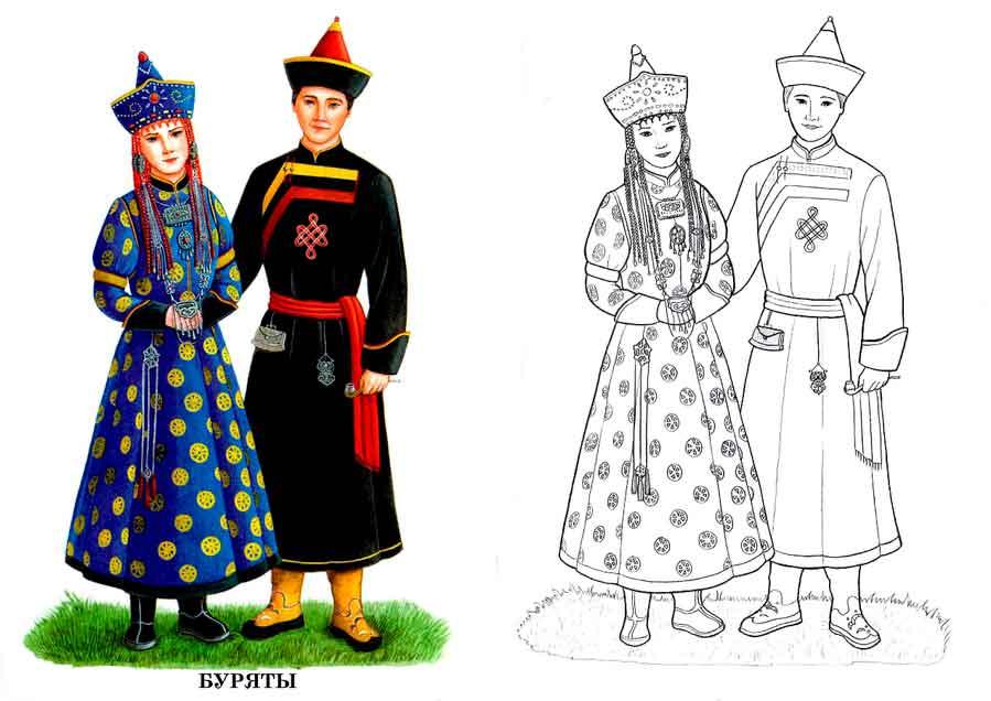 Раскраски одежда древней китай 109