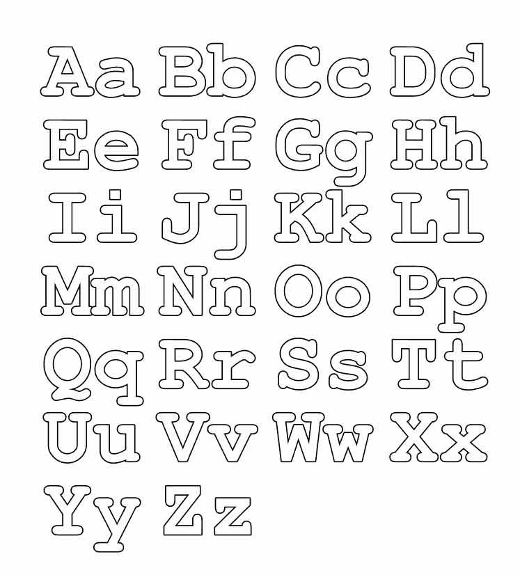 Буквы английского алфавита для раскраски
